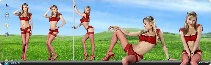 Virtual Girls HD Программа которая размещает танцующих 3D девушек на