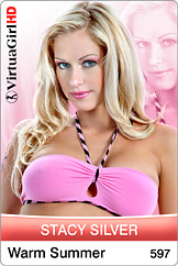 Gorgeous blonde Pornstar Stacy Silver is from the same small town in the Czech Republic as Silvia Saint. It's obvious that the women of Brno are as beautiful as any you will ever find no matter where in the world you look. Dancing and performing for you in a private show on your desktop adds a new way for you to enjoy her warm personality and staggeringly sexy body! -- CZECH REPUBLIC, 30/28.1/33, BLOND, European